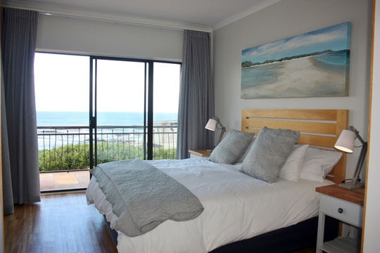 Main bedroom with beautiful sea views